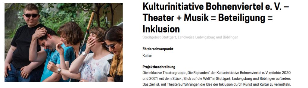 Theater + Musik = Beteiligung = Inklusion