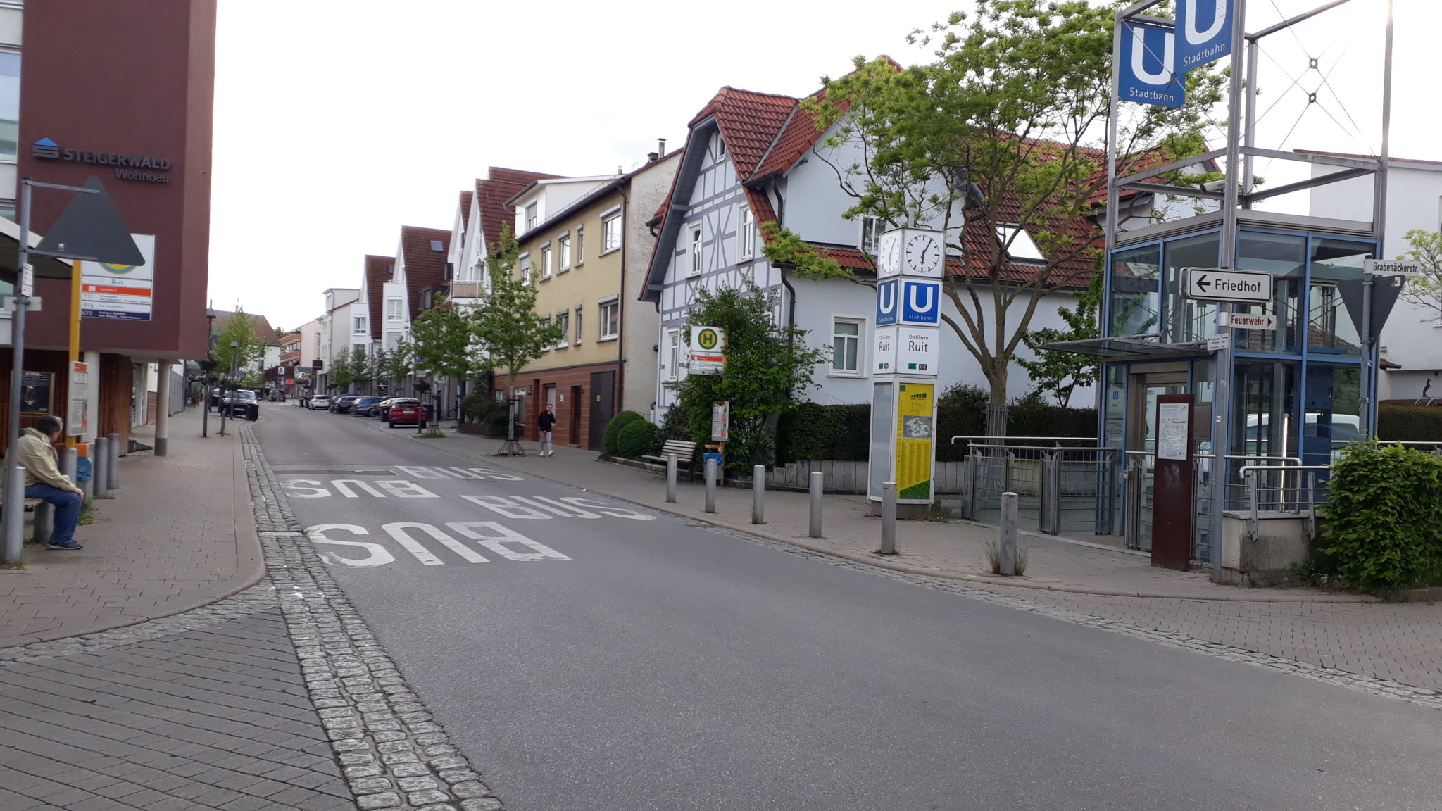 Stadtbahnhaltestelle Ruit U7 / U8, Ruit