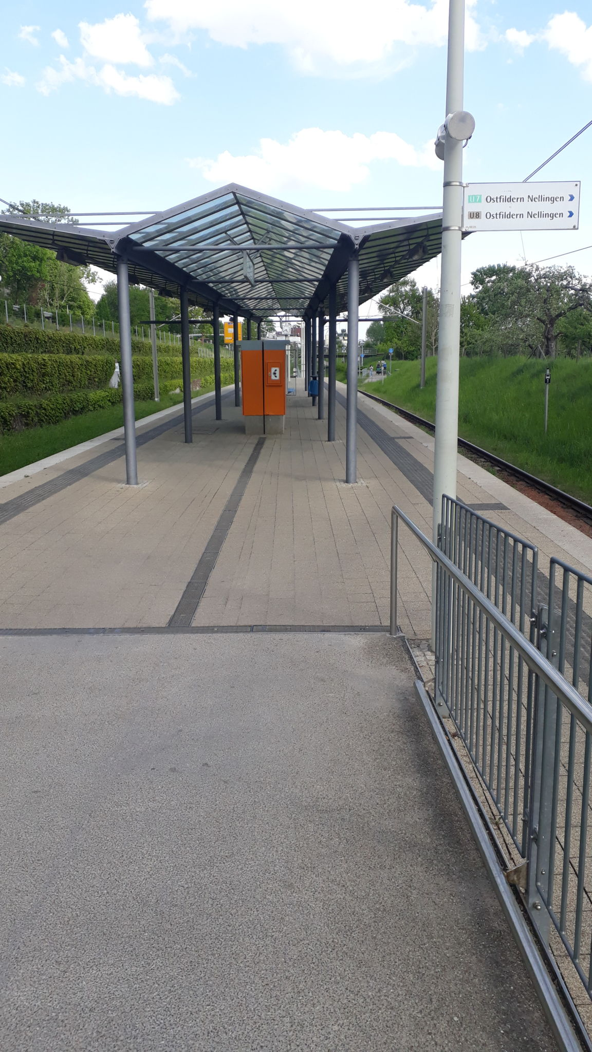 Stadtbahnhaltestelle Zinsholz U7 / U8, Ruit