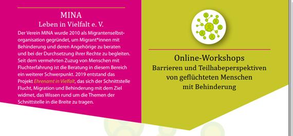 Online-Workshopreihe Inklusion für alle? Teilhabeperspektiven an der Schnittstelle Flucht & Behinderung