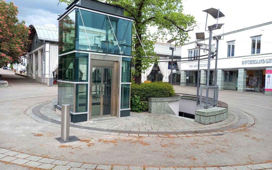 """Barrierefreier Zugang Tiefgarage """"An der Halle"""""""